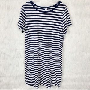 Old navy striped t-shirt dress-Size Large